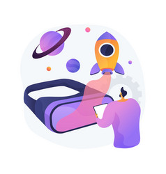 Virtual world development abstract concept vector