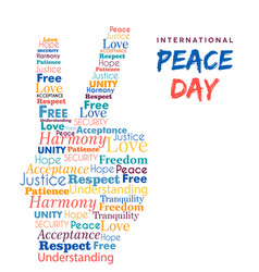 World peace day design of hand sign for freedom vector