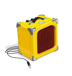 Yellow guitar combo amplifier vector