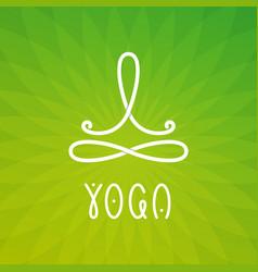 yoga studio logo design template vector image