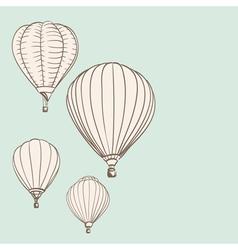 air balloons vector image