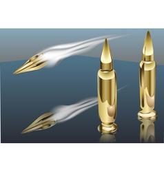 bullet smoke vector image vector image