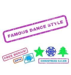 Famous Dance Style Rubber Stamp vector image
