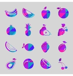 fruit colorful icon set vector image