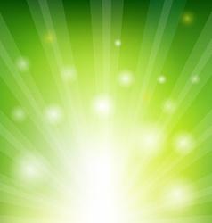 Green Sunburst Xmas vector image vector image