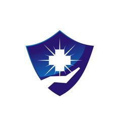 healthy care shield vector image