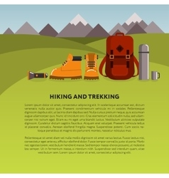 Hiking and trekking background vector image