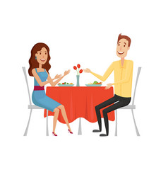 people in the restaurant for dinner flat and vector image vector image