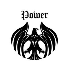 Black eagle round symbol for heraldic design vector image vector image