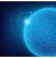 Cosmic blue background vector image vector image