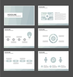 Light blue presentation templates Infographic set vector image vector image