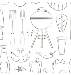 Set of barbecue pattern vector