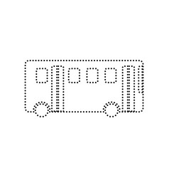 bus simple sign black dotted icon on vector image