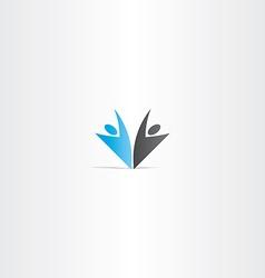 business people blue black logo vector image