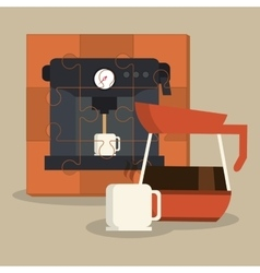 Coffe shop design vector image