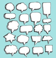 Collection of hand drawn bubble speech vector image vector image