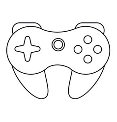 gamepad control console thin line vector image