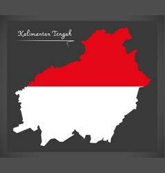 kalimantan tengah indonesia map with indonesian vector image vector image
