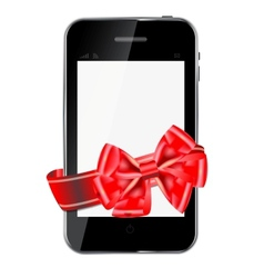 Abstract design mobile phone vector image