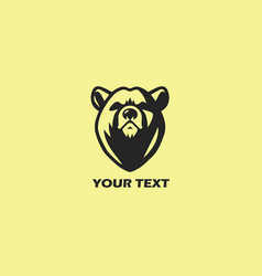 bear logo template design vector image