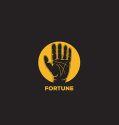 Fortune telling logo icon design vector