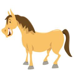 horse cartoon animal character vector image vector image