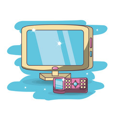 modern wide screen television vector image