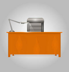 office desk director vector image