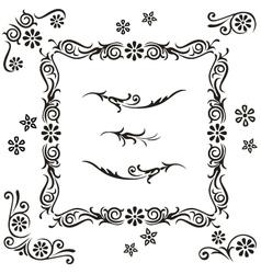 set calligraphy vector image