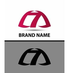 7 Number seven logo symbol icon vector