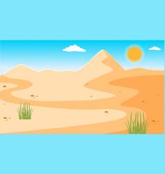 A desert with clear blue sky vector
