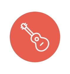 Acoustic guitar thin line icon vector image