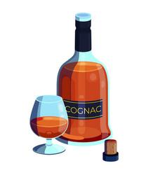 alcohol drink cognac poster vector image