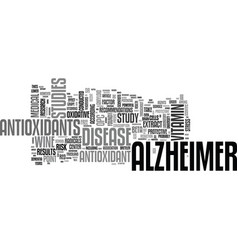 Alzheimer care text word cloud concept vector
