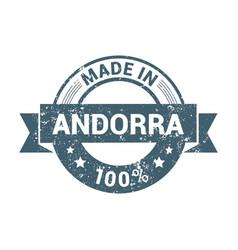 Andorra stamp design vector