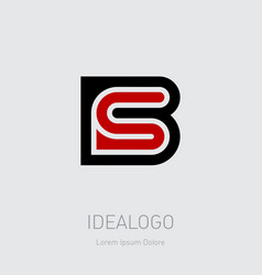 b and s initial logo bs initial monogram logotype vector image