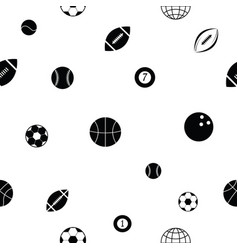 ball seamless pattern background icon vector image