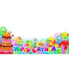 Birthday horizontal composition vector image