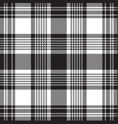 Black checkered plaid seamless pattern vector