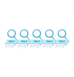 blue empty circles steps infographic template vector image