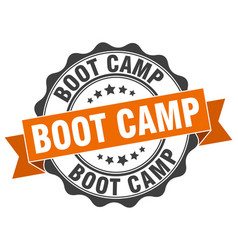 Boot camp stamp sign seal vector