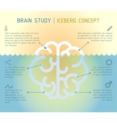 Brain iceberg infographic concept vector
