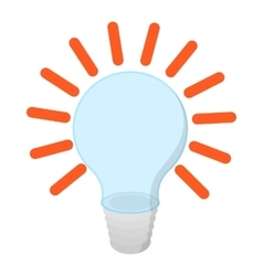 Bulb with idea cartoon icon vector image