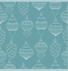 christmas seamless pattern with christms balls vector image