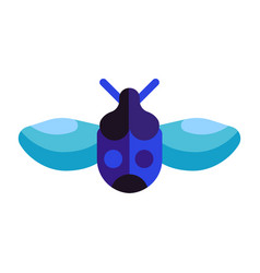Colorful exotic tropical bug icons in flat vector
