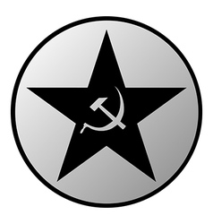 Communism star button vector image