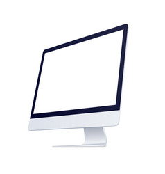 computer screen monitor side display isolated on vector image