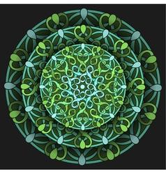 Decorative design element with a circular vector