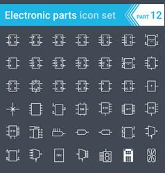 Digital electronics flip-flop logic circuit vector