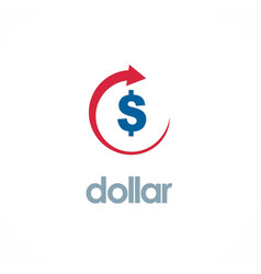 dollar up business logo vector image